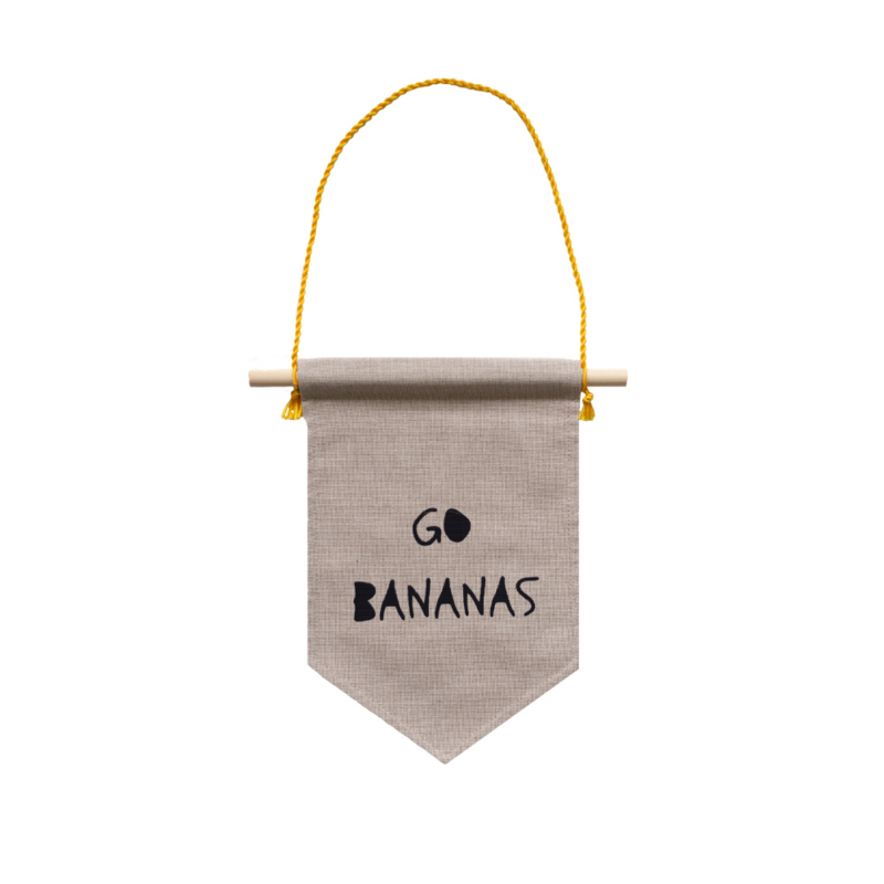 Muurvlag - Go Bananas