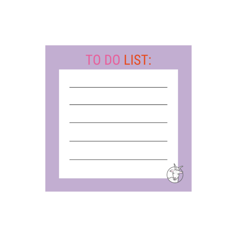 Notitieblok 98 mm x 98 mm |  TO DO LIST
