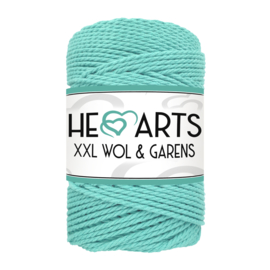 Hearts triple twist 3 mm mint aqua