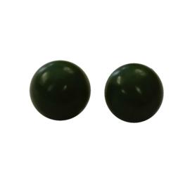 Knoop olijfgroen bolletjesknoop