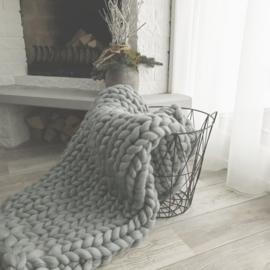 Workshop handbreien woonplaid  kleur