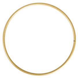 Macramé ring goud 10 cm