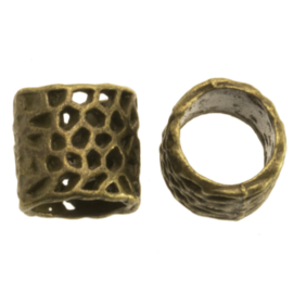Metalen kraal Panther brons