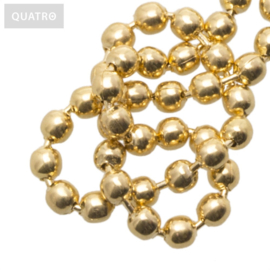 Bolletjesketting 2.4 mm goud