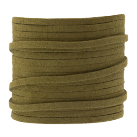 Faux suede moss green 3 mm