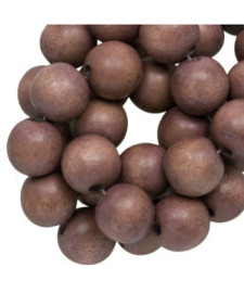 Houten kraal Hazelnut brown 12 mm