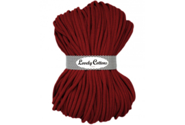 Lovely Cottons 9 mm gevlochten bordeaux