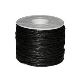 Koord (gewaxt) zwart 1,5 mm