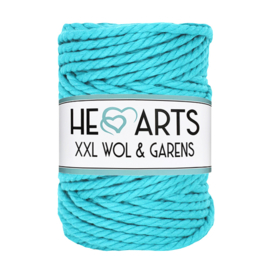 Hearts triple twist 5 mm aqua