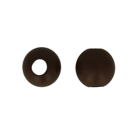 Houten kraal bruin groot gat 30 mm