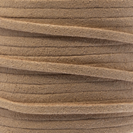 Faux suede Brown sand 3 mm