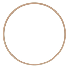 Blanke houten ring 10 cm