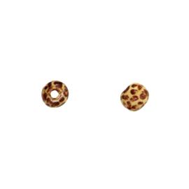 mini houten kraal print luipaard