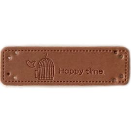 Label Happy time vogelkooitje