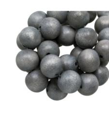 Houten kraal Silver blue 12 mm