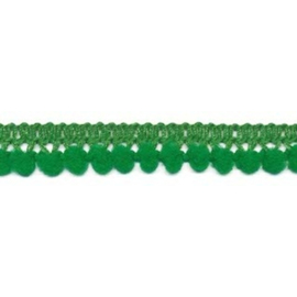 mini pompomband groen 10 mm