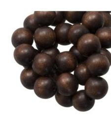 Houten kraal chestnut 12 mm