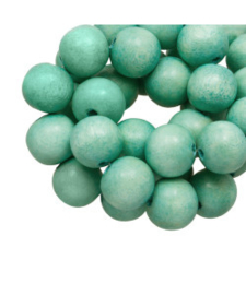 Houten kraal mint green 12 mm