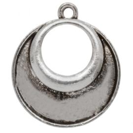 Hanger Rond zilver 22 mm
