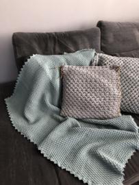 Gehaakt woonplaid soft pakket