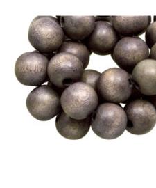 Houten kraal grey taupe 12 mm