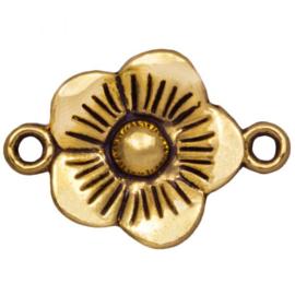 Tussenstuk 2 ogen flower goud