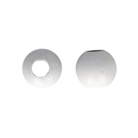 Houten kraal wit groot gat 30 mm