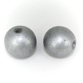 Houten kraal zilver 20 mm