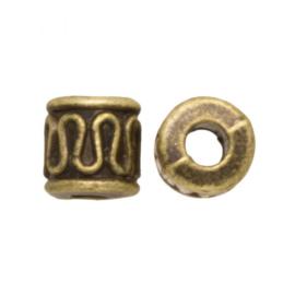 Metalen kraal sier zigzag