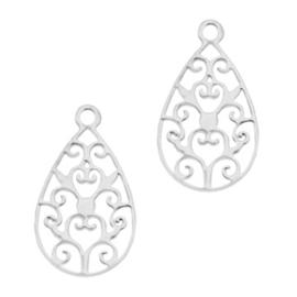 Hanger bohemian druppel zilver