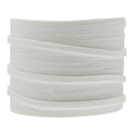 Faux suede white 3 mm