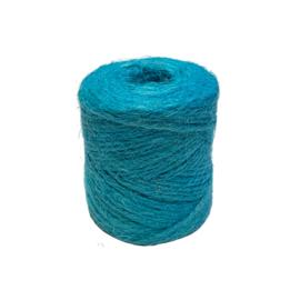 jute koord turquoise  2 mm