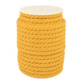 Triple twist koord 10 mm mustard
