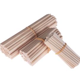 Blanke houten stokjes 8 cm