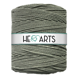 Hearts triple twist 4 mm light olive