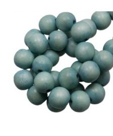 Houten kraal powder blue 12 mm