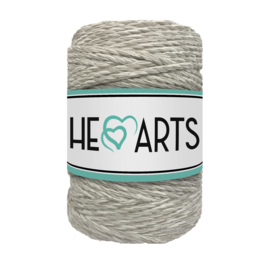 Hearts triple twist 5 mm beige/ecru (100 meter)