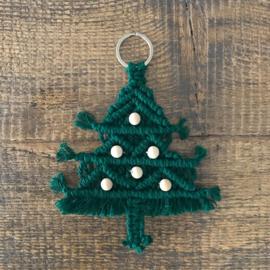 Kerstboom macrame hanger
