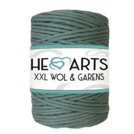 Hearts single twist 4,5 mm sage green (200m)