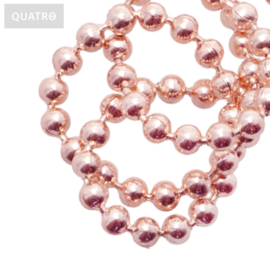 Bolletjesketting 2 mm rosé goud