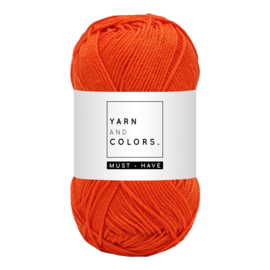 Yarn and color must-have fiery orange