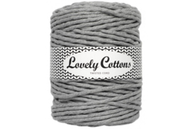 Lovely Cottons single twist 5 mm grey