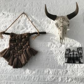 Wandhanger brons wol