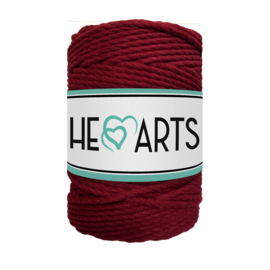 Hearts triple twist 5 mm bordeaux(100 meter)