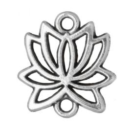 Tussenstuk 2 ogen lotus zilver