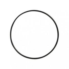 Macramé ring zwart 10 cm