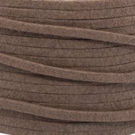 Faux suede Brown pink 3 mm