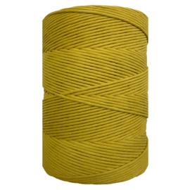 Hearts single twist 4,5 mm mustard green (500m)