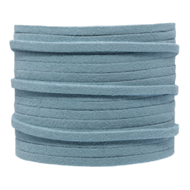 Faux suede porcelain blue 3 mm
