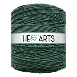 Hearts triple twist 4 mm dark green